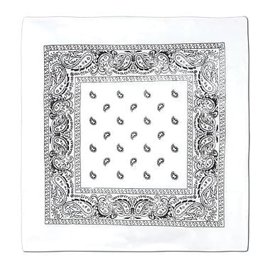 Bandana, 22 x 22 po, blanc, 5/paquet