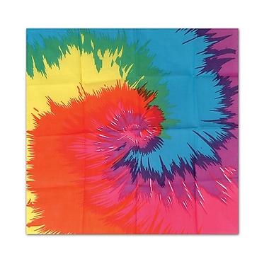 Beistle Funky Tie-Dyed Bandana, 22