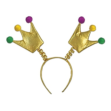 Mardi Gras Crown Boppers, One Size Fits Most, 3/Pack