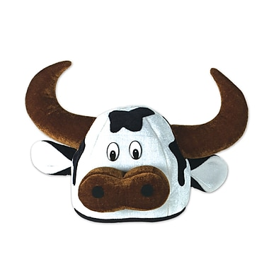 Plush Cow Head-Hat, One Size Fits Most, 2/Pack
