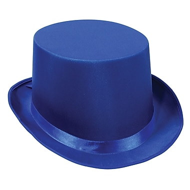 Satin Sleek Top Hat, One Size Fits Most, 2/Pack
