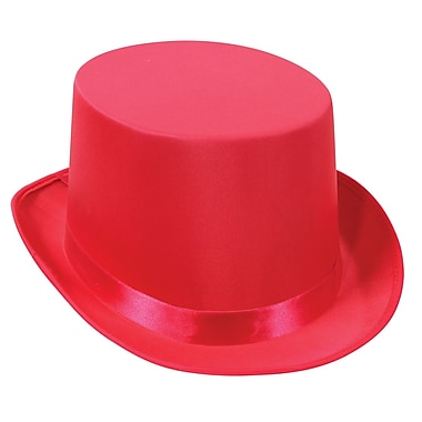 Satin Sleek Top Hat, One Size Fits Most, Pink, 2/Pack