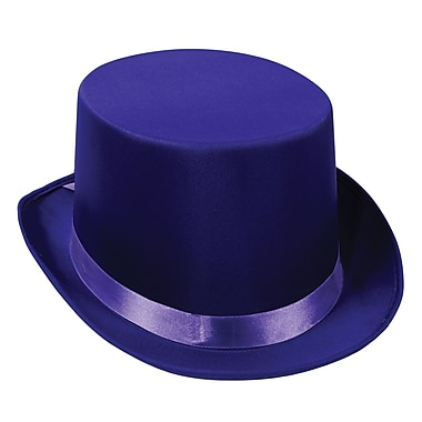 Satin Sleek Top Hat, One Size Fits Most, Purple, 2/Pack