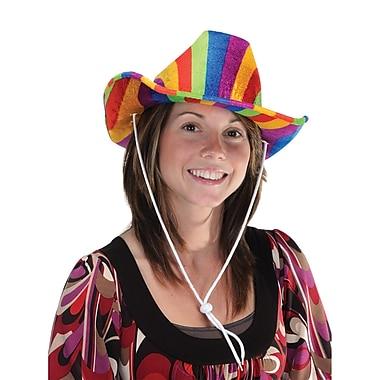 Chapeau de cowboy arc-en-ciel, taille unique