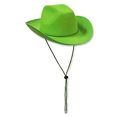 Felt Cowboy Hat, One Size Fits Most, Lime Green, 2/Pack