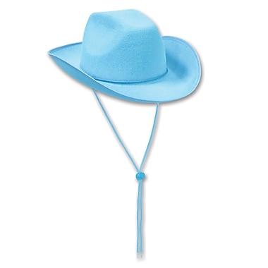 Chapeau de cowboy en feutre, taille unique, turquoise, 2/paquet