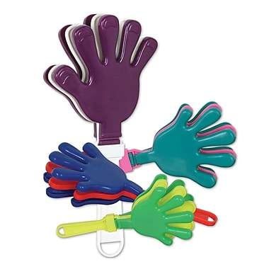 Large Assorted Hand Clappers, 12