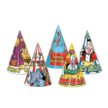 Circus Birthday Hats, 6-1/2