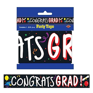 Congrats Grad Party Tape, 3