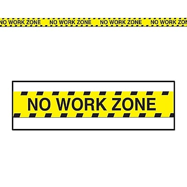 No Work Zone Party Tape, 3
