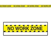 Beistle 3 x 20' No Work Zone Party Tape, Yellow, 12/Pack