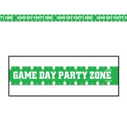Beistle 3 x 20' Game Day Party Zone Party Tape, Green/White, 5/Pack