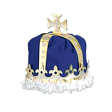 Royal King's Crown, One Size Fits Most, Blue, 2/Pack