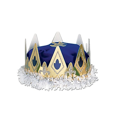 Royal Queen's Crown, One Size Fits Most, Blue, 2/Pack