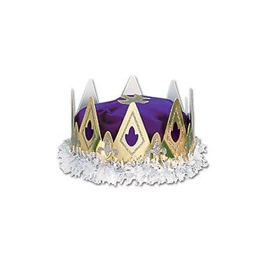 Royal Queen's Crown, One Size Fits Most, Purple, 2/Pack