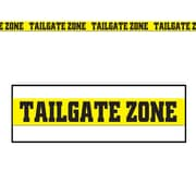 Beistle 3 x 20' Tailgate Zone Party Tape, Yellow/Black, 12/Pack