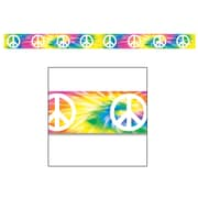 Beistle Peace Sign Party Tape, 20' x 3, 5/Pack