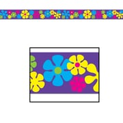 Beistle Retro Flowers Party Tape, 20' x 3, 5/Pack
