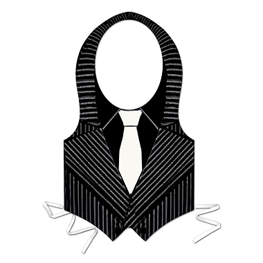 Plastic Gangster Vest, One Size Fits Most, 4/Pack