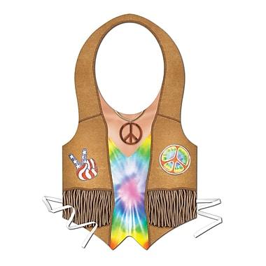Beistle Plastic Hippie Vest, 4/Pack