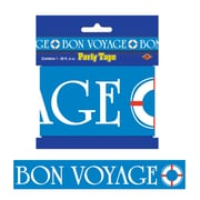 Beistle 3 x 20' Bon Voyage Party Tape, 5/Pack