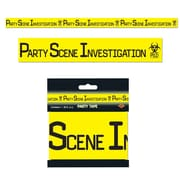 Beistle 3 x 20' Party Scene Investigation Party Tape, Yellow/Black, 12/Pack