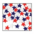 Beistle 1/2in. Tissue Star Confetti, Red/White/Blue, 5/Pack