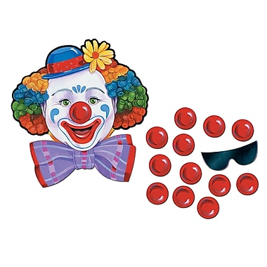 Jeu de clown de cirque, 17 1/2 x 19 1/2 po, 7/paquet