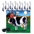 """Beistle 17"""" x 18 1/4"""" Pin The Tail On The Cow Game, 7/Pack"""