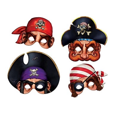 Masques de pirate, 12 po, 12/paquet