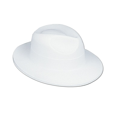 Velour Fedora, One Size Fits Most, White, 4/Pack