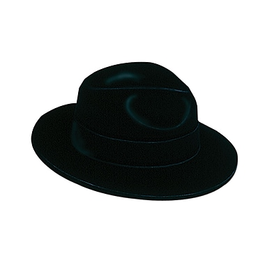 Velour Fedora, One Size Fits Most, Black, 4/Pack