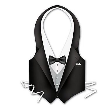 Plastic Tux Vest, One Size Fits Most, 4/Pack