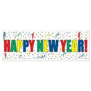 """Beistle 5' x 21"""" Happy New Year Sign Banner, 3/Pack"""