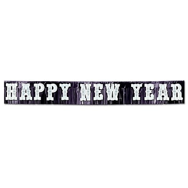 Banderole métallique « Happy New Year », 20 po x 15 pi
