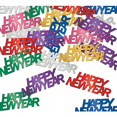 Happy New Year Fanci-Fetti, Multi-Colour, Total Of 3 Ounces