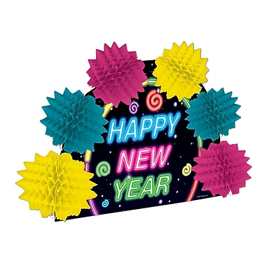 Happy New Year Neon Pop-Over Centerpiece, 10