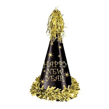 Chapeau de fête à reflet doré, 12 1/2 po, noir et doré, 25/paquet