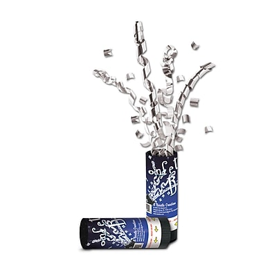New Year Confetti Bursts, Silver, 24/Pack