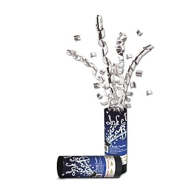 Bombe à confettis pour la nouvelle année, argenté, 24/paquet