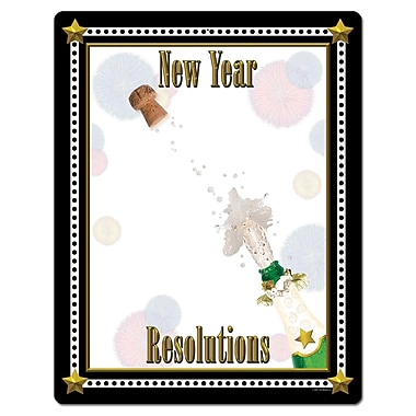 Partygraph « New Year Resolutions », 23 x 18 po, 6/paquet