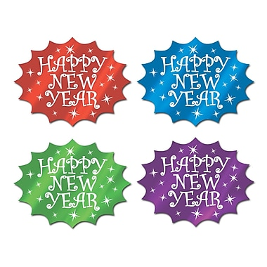 Foil Happy New Year Cutouts, 13