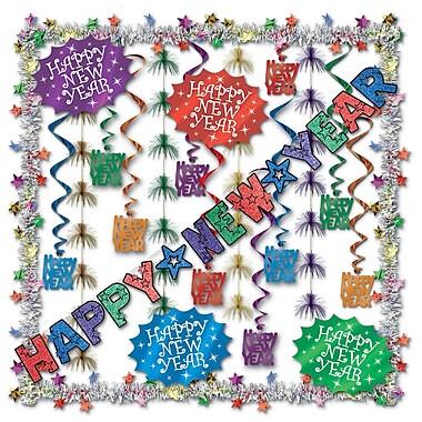 Beistle 23-Piece New Year Decorating Kit