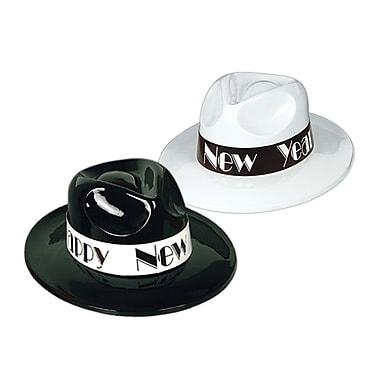 Chapeaux mous Charleston, noir et blanc, 25/paquet