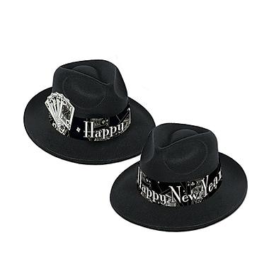 Chapeaux mous « Casino Silver », noir et argenté, 25/paquet