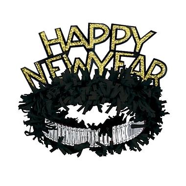 Beistle Happy New Year Regal Tiara, Black/Gold