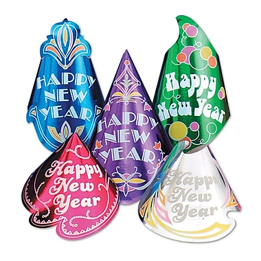 Champagne Hat Assortment, Assorted Colours, 50/Pack