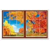 "Autumn Insta-View, 3' 2"" x 5' 2"", 2/Pack"