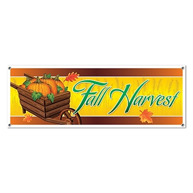 Fall Harvest Sign Banner, 5' x 21