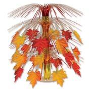 "Beistle 18"" Fabric Fall Leaves Cascade Centerpiece, 3/Pack"